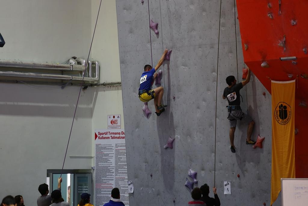 Spor Tırmanış Küçükler ve Gençler Hız Yarışması 1. Ayak tamamlandı.