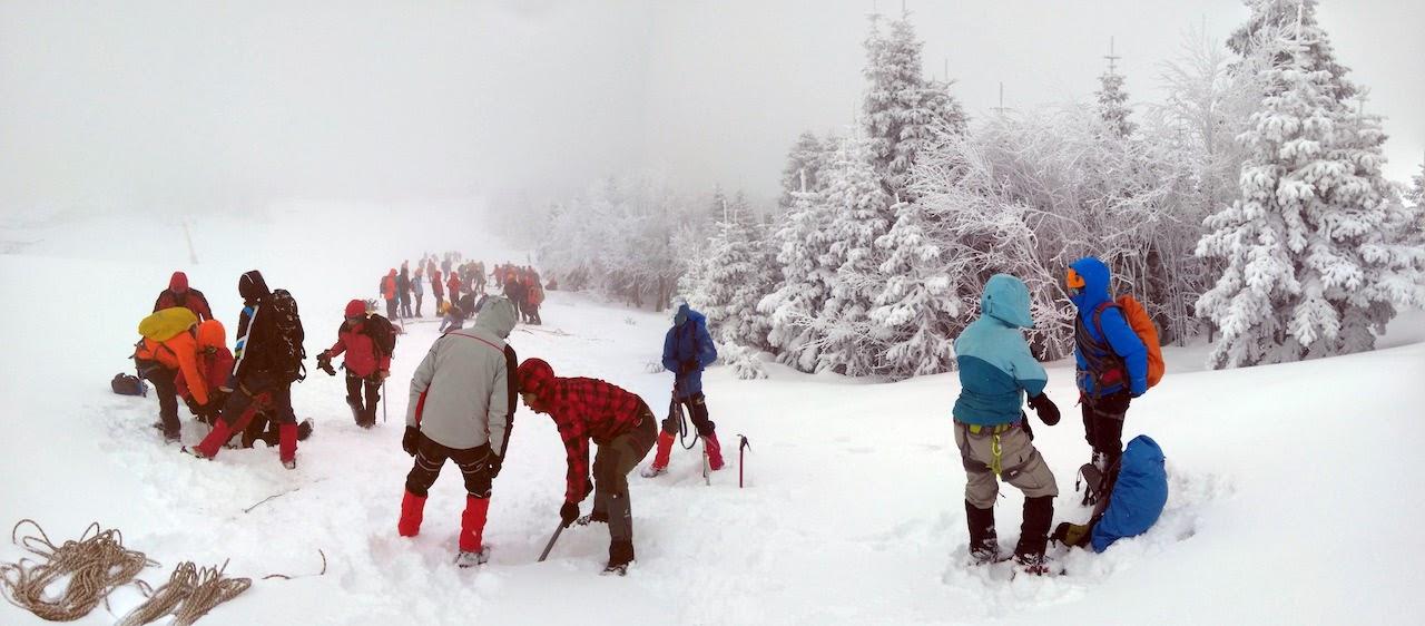 Kış Arama Kurtarma Eğitimi Bursa'da yapıldı.