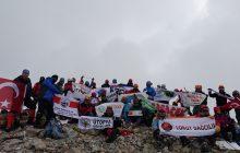Medetsiz Dağı Zirve Tırmanışı başarıyla tamamlandı.