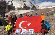 TDF Erzurum İl Temsilciliği Kazbek Dağı Zirve Tırmanışı'nı gerçekleştirdi.