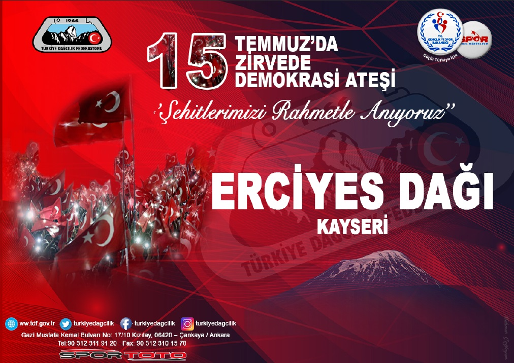 15 Temmuzda 15 Zirvede - Erciyes Dağı