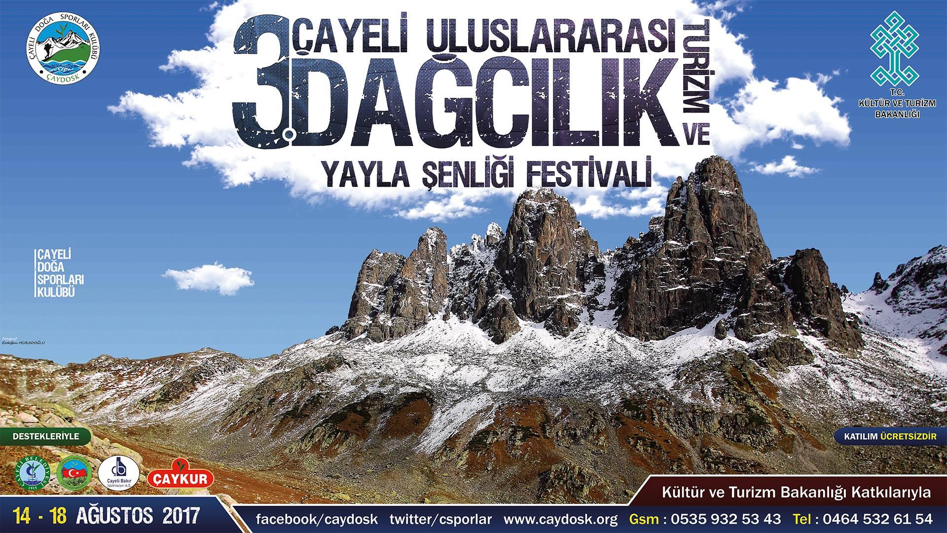 3. Çayeli Uluslararası Dağcılık Turizm ve Yayla Şenliği
