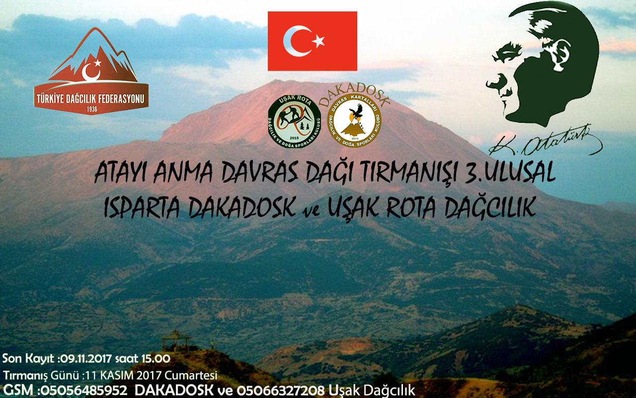 3. Ulusal Ata'yı Anma Davras Dağı Zirve Tırmanışı