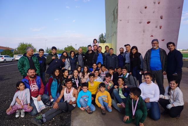 Diyarbakır İl Temsilciliği Minikler-Küçükler Spor Tırmanış İl Şampiyonası düzenlendi.