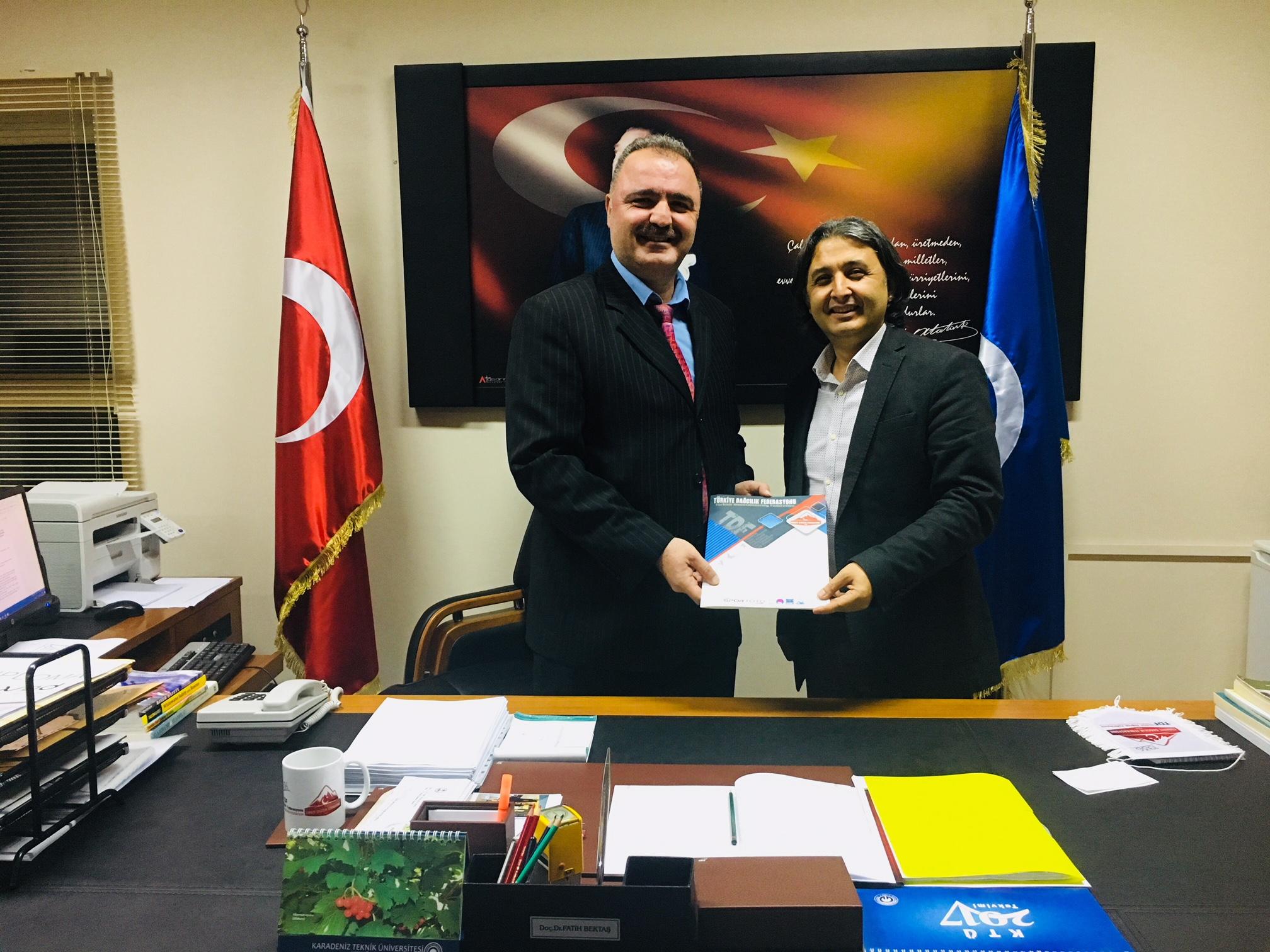 Türkiye Dağcılık Federasyonu ile Karadeniz Teknik Üniversitesi arasında işbirliği protokolü imzalandı.