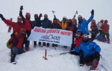 ERDAK tarafından Kadına Şiddete Hayır sloganıyla Hasandağı Kış Zirve Tırmanışı düzenlendi.