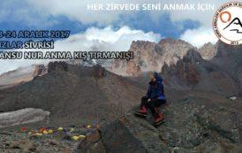 Kızlar Sivrisi Dağı Cansu Nur Anma Kış Tırmanışı