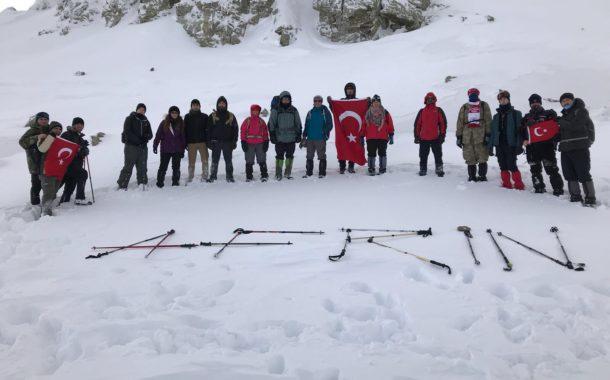 Sivas İl Temsilciliği'nden Türk Silahlı Kuvvetlerimize Destek Tırmanışı