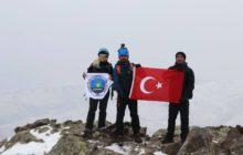 Iğdır Tekelti Dağı İlk Kış Tırmanışı gerçekleştirildi.