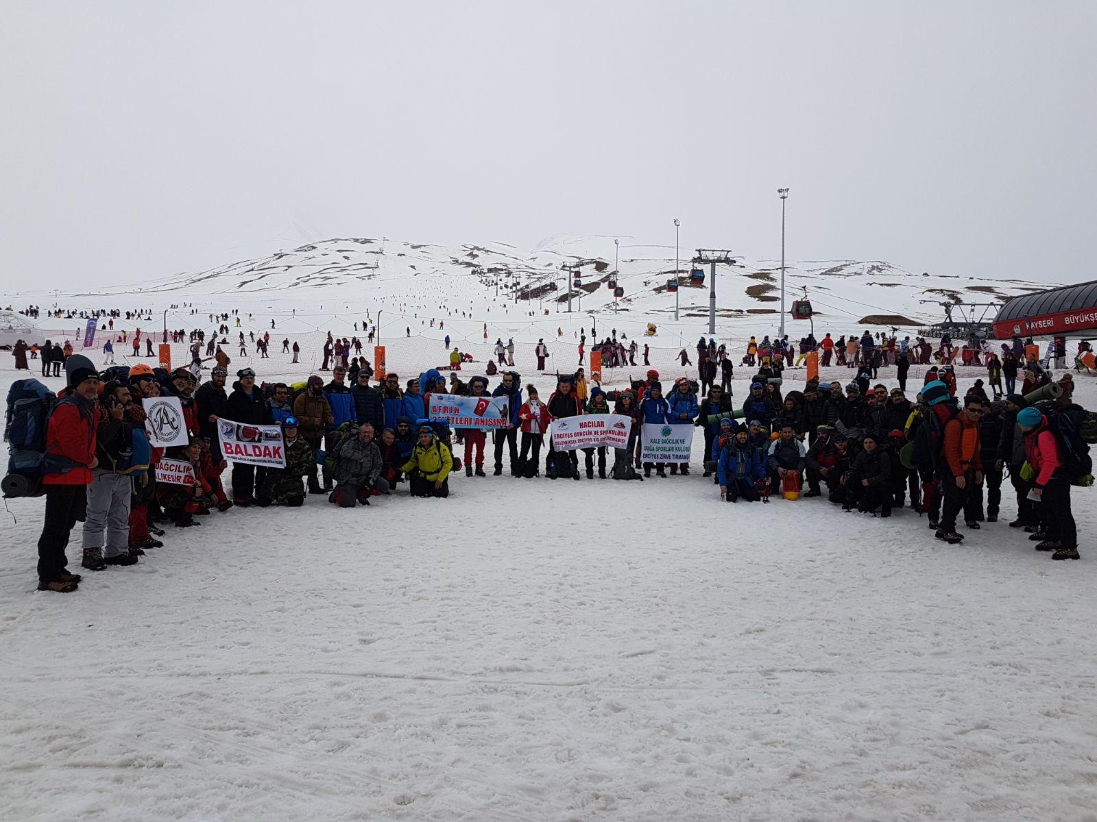 8. Geleneksel Uluslararası Hacılar Erciyes GSK Kış Tırmanışı tamamlandı.