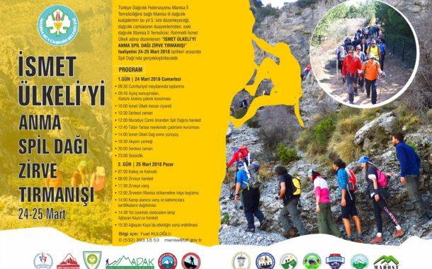5. İsmet Ülkeli'yi Anma Spil Dağı Zirve Tırmanışı