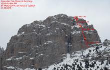 Aladağlar Kaletepe Kuzey Yüzü November Pain Rotası ilk kış tırmanışı gerçekleştirildi.
