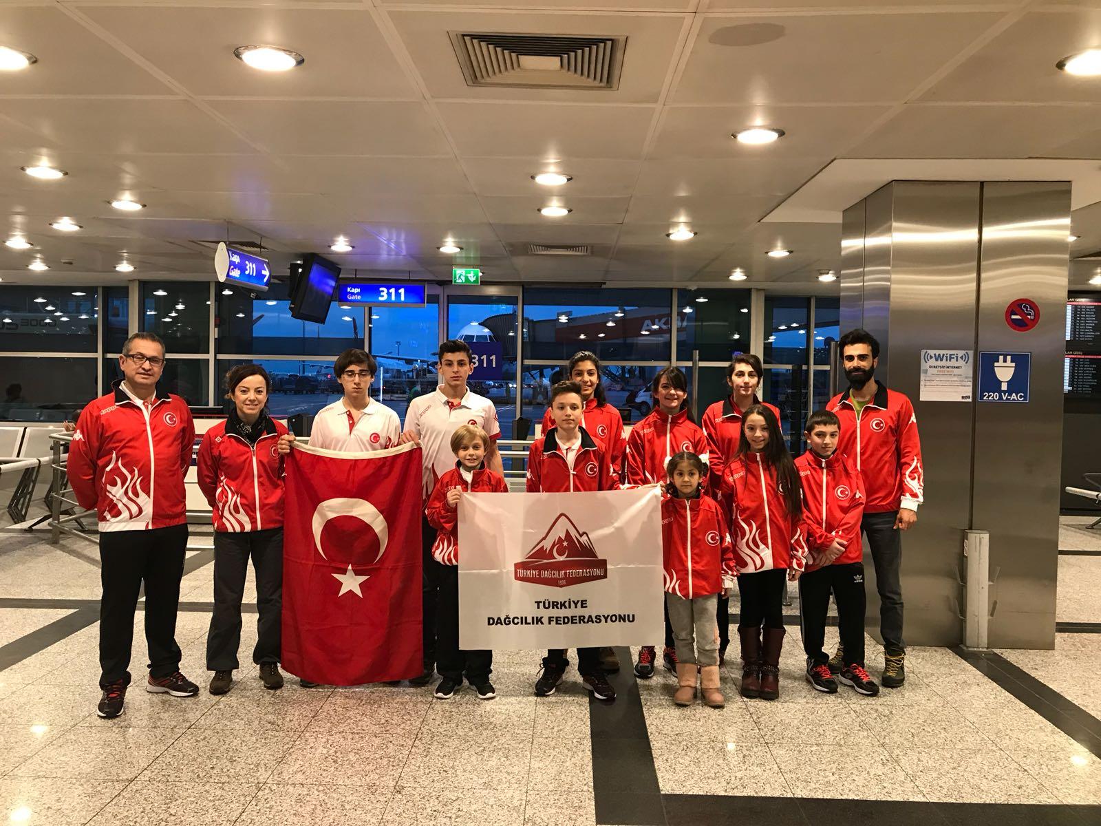 TDF Spor Tırmanış Milli Takımı Balkan Şampiyonasına katılmak üzere yola çıktı.
