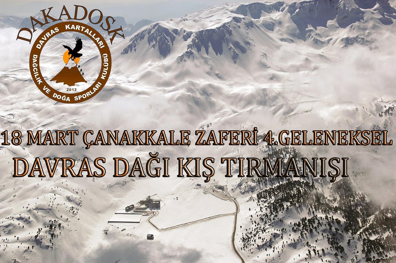 18 Mart Çanakkale Zaferi Davras Dağı 4. Geleneksel Kış Zirve Tırmanışı
