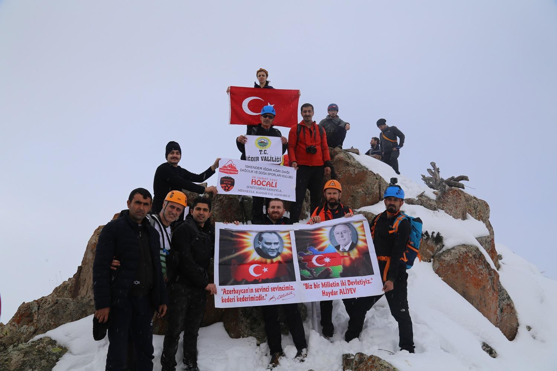 2. Geleneksel Hocalı Şehitleri'ni Anma Haça Dağı Kış Zirve Tırmanışı