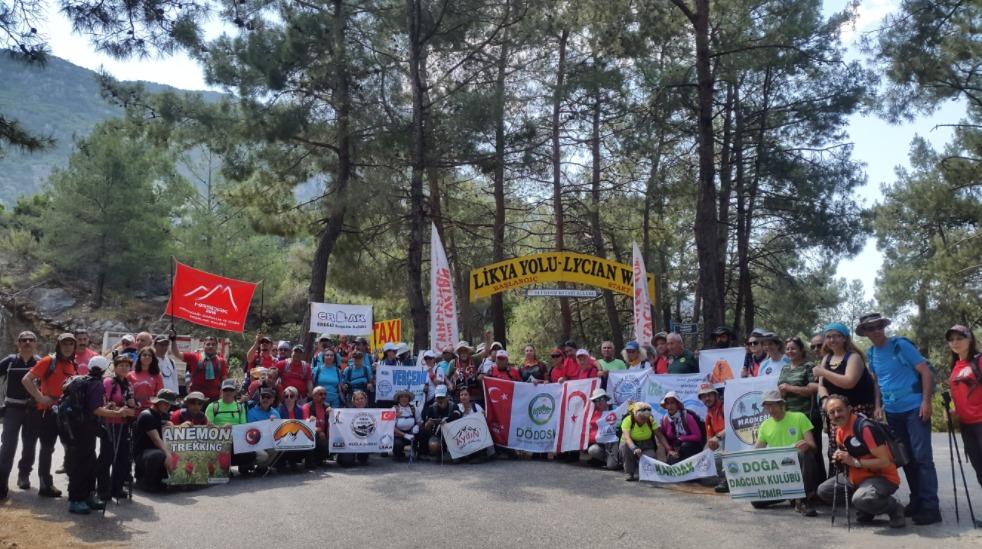 TDF Likya Yolu Yürüyüşü tamamlandı.