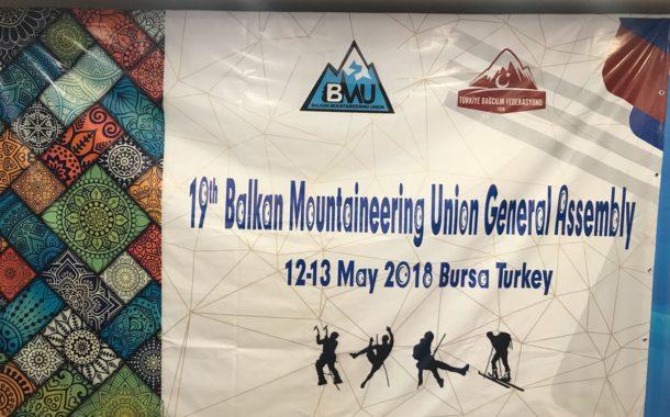 19. Balkan Dağcılar Birliği Genel Kurulu Bursa'da düzenlendi.
