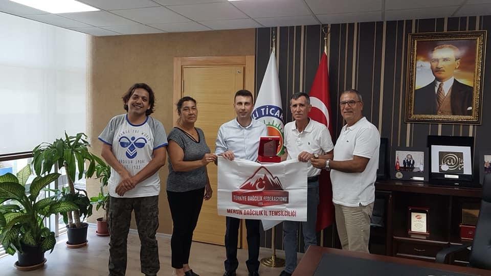 Mersin İl Temsilciliği Medetsiz Dağı Tırmanışındaki destekler için teşekkür ziyaretleri gerçekleştirdi.