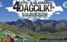 Çayeli 4. Uluslararası Dağcılık, Turizm ve Yayla Şenliği Festivali Daveti
