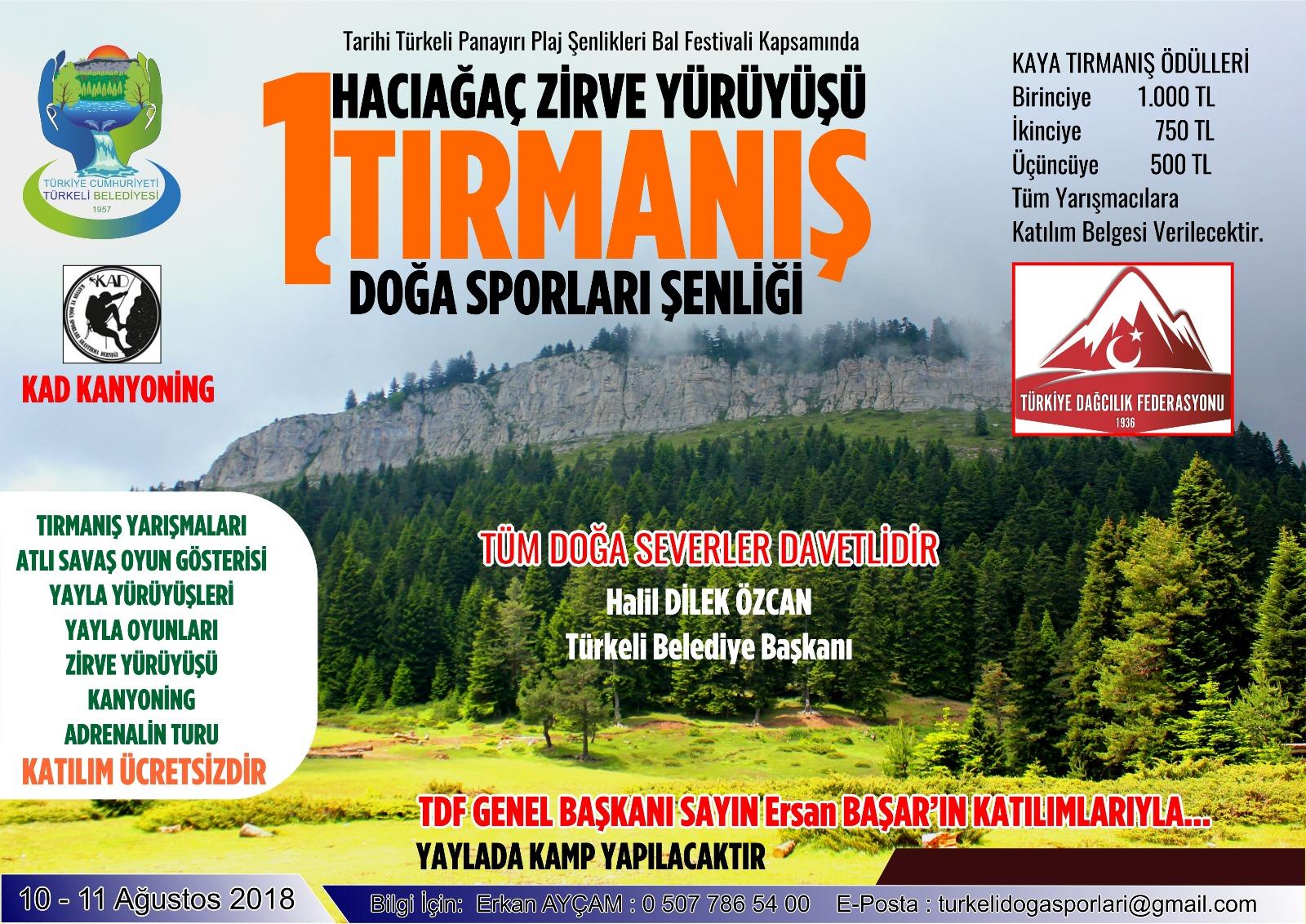 1. Türkeli Tırmanış Doğa Sporları Şenliği Daveti
