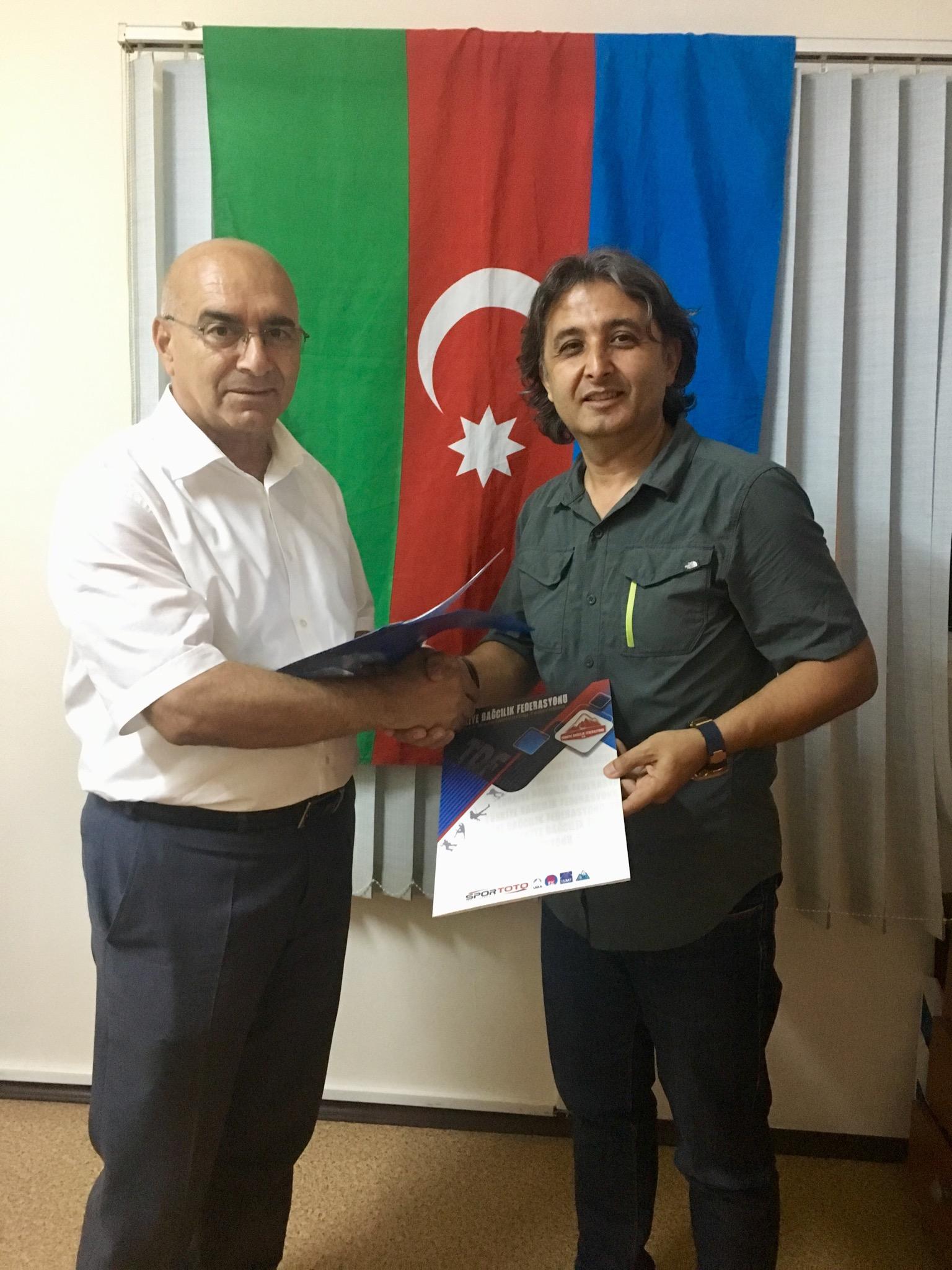 Azerbaycan Dağcılık (FAIREX) Federasyonu ile eğitim ve işbirliği protokolü imzalandı.