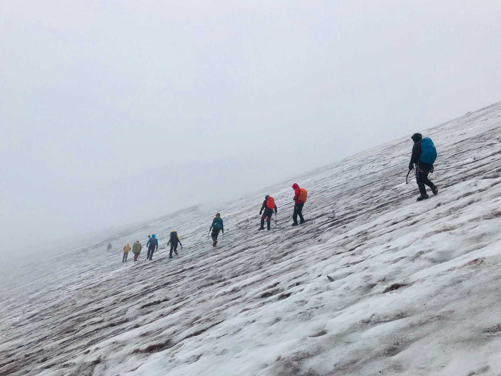 İler Kar-Buz Eğitimi A Kampı Rize/Kazbek'te düzenlendi.