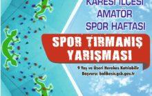 Amatör Spor Haftası Etkinlikleri: Balıkesir Spor Tırmanış Yarışması