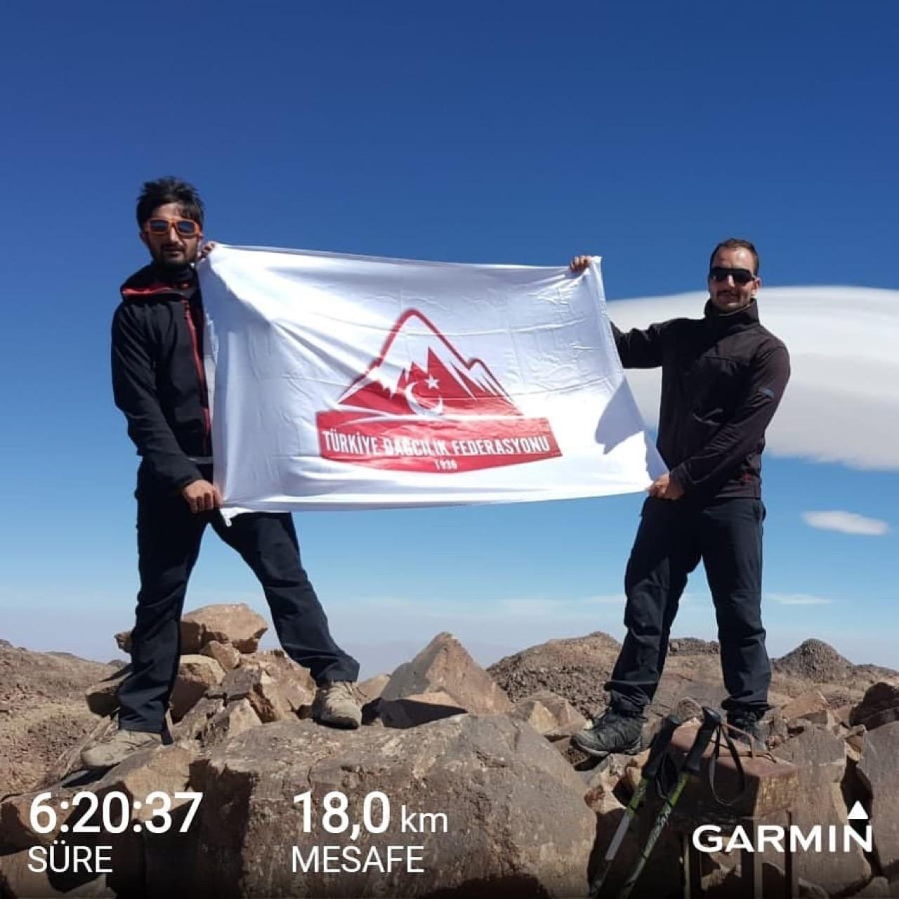 Süphan Dağı'nın ilk sky trail koşusu gerçekleştirildi.