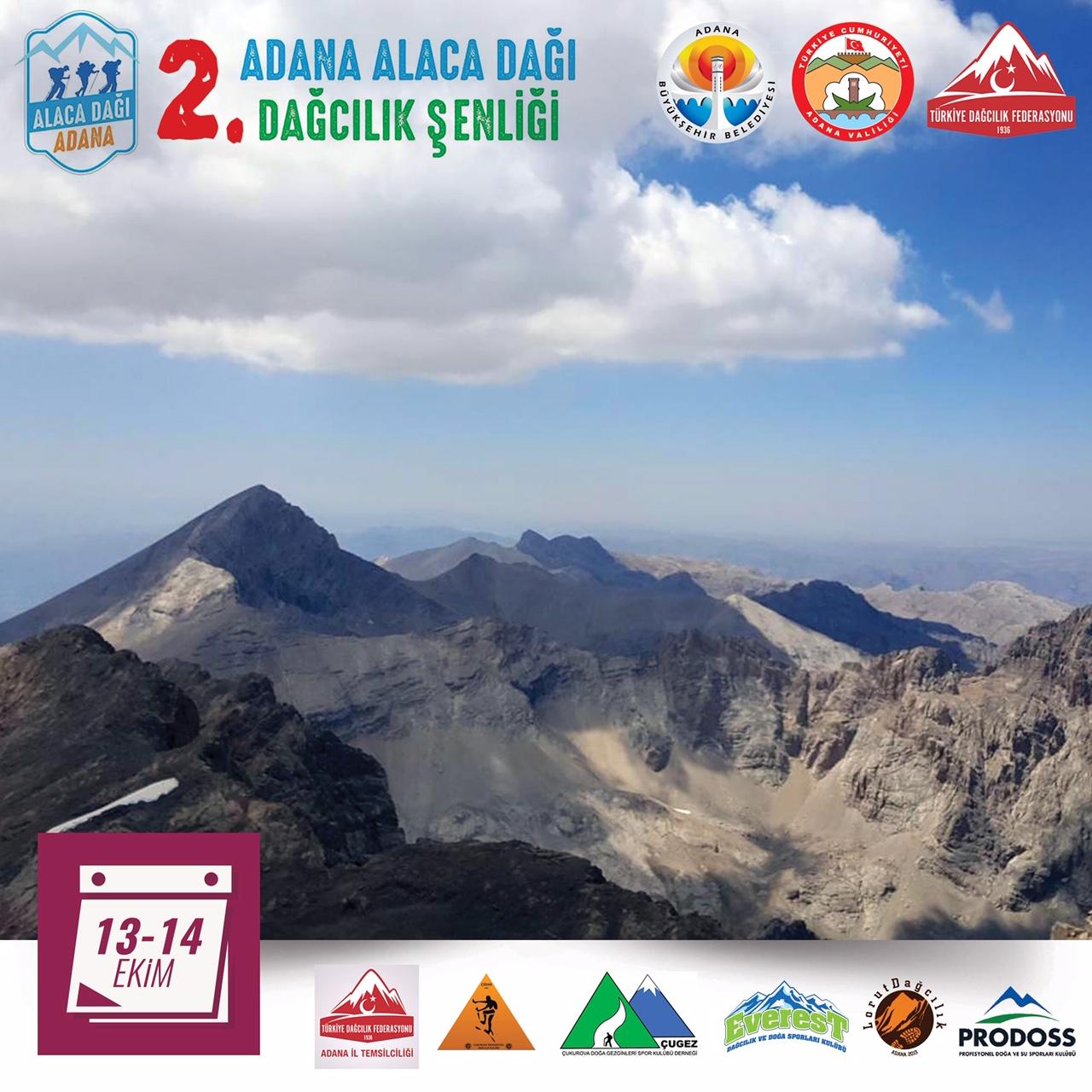 2. Adana Alaca Dağı Dağcılık Şenliği Daveti