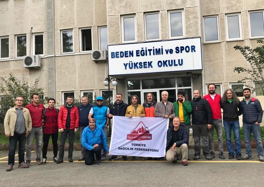 Dağcılık 2. Kademe Antrenör Kursu Trabzon'da başladı.