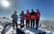 Büyük Erek Dağı Tırmanışı gerçekleştirildi.