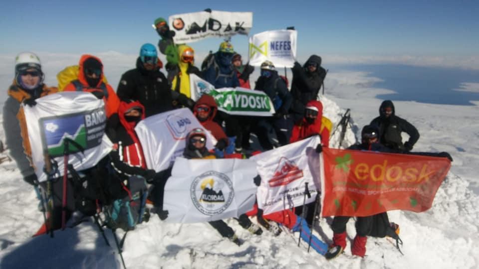 Süphan Dağı Kış Tırmanışı ve Dağ Kayağı Faaliyeti başarıyla tamamlandı.