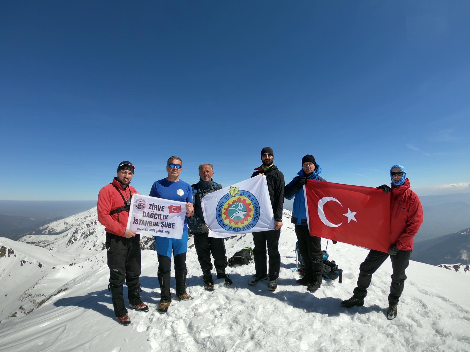 Şar Dağları Büyük Bistra (2651m) Zirvesi Kış Tırmanışı