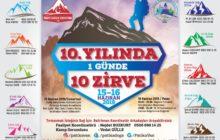 Patika Doğa Sporları Kulübü'nün 10. Yılında  Günde 10 Zirve Etkinliği