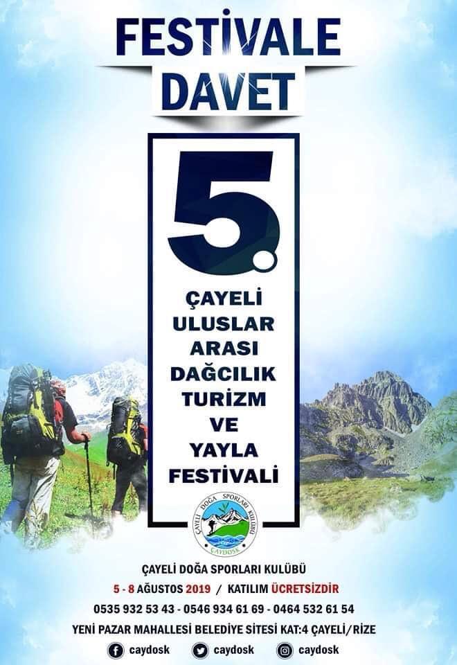 Çayeli 5. Uluslararası Dağcılık, Turizm ve Yayla Şenliği Daveti