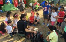 Mersin'de çocuklar doğa ile buluştu.