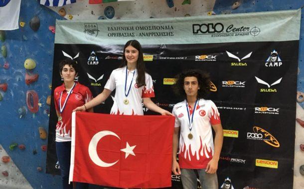 Spor Tırmanış Milli Takımı Balkan Boulder Şampiyonası'ndan 3 madalya alarak yurda döndü.