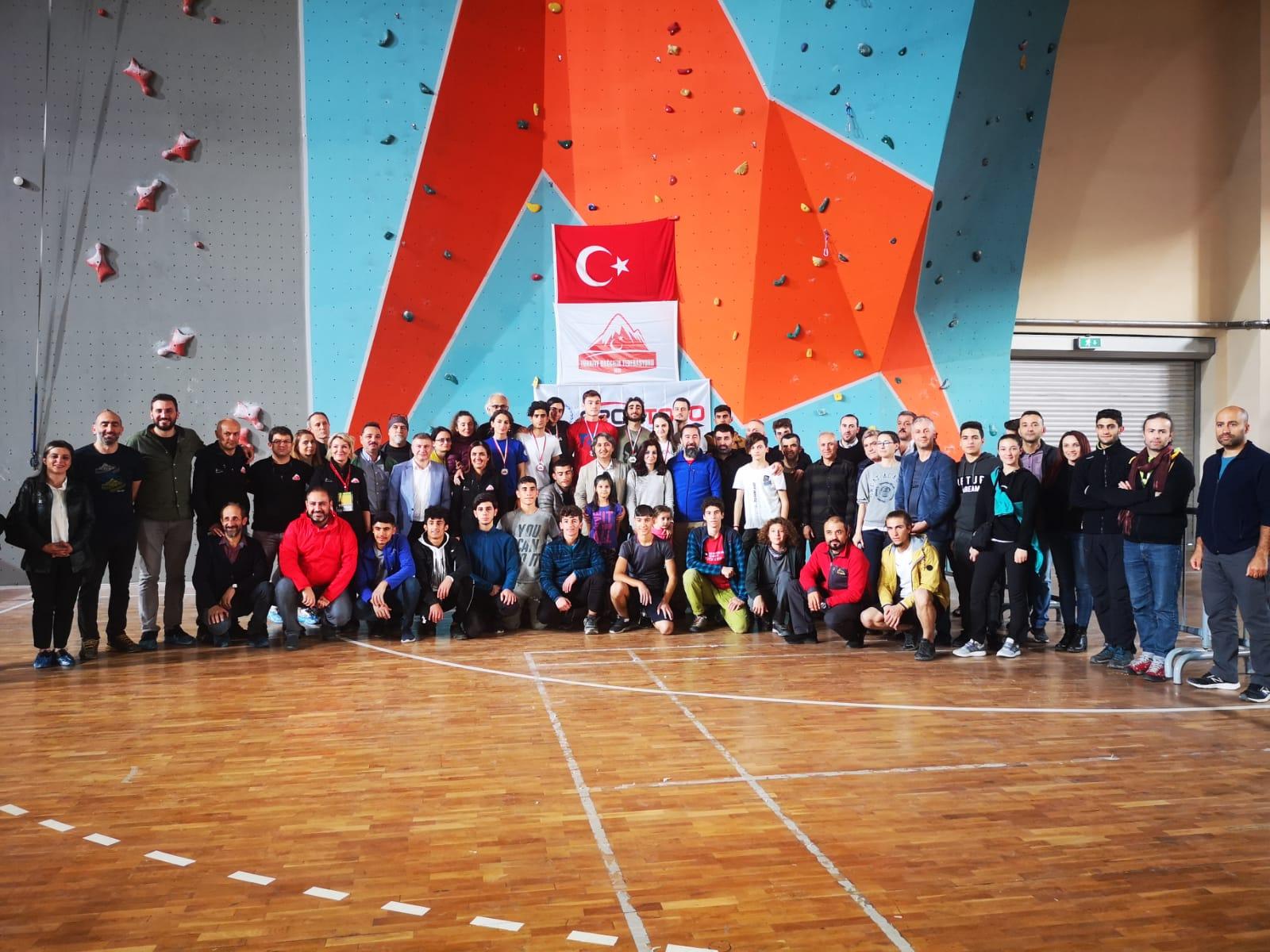 Spor Tırmanış Türkiye Hız Şampiyonası tamamlandı.