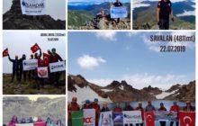 100. Yılı Anma Etkinlikleri Kapsamında 19 Zirve Tırmanışı