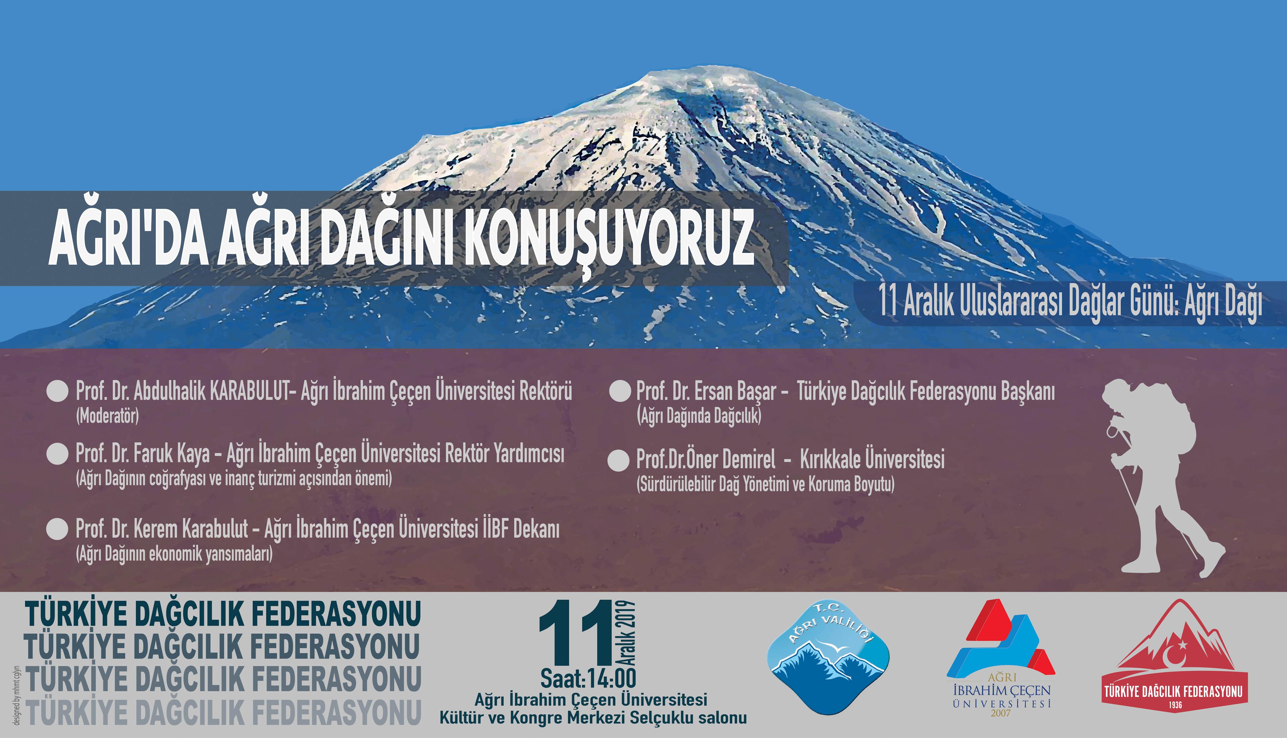 Uluslararası Dağlar Gününde Ağrı'da Ağrı Dağı Paneli Düzenliyoruz