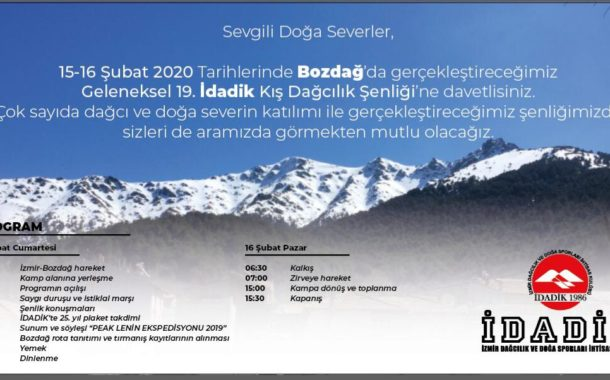19. İDADİK Kış Dağcılık Şenliği