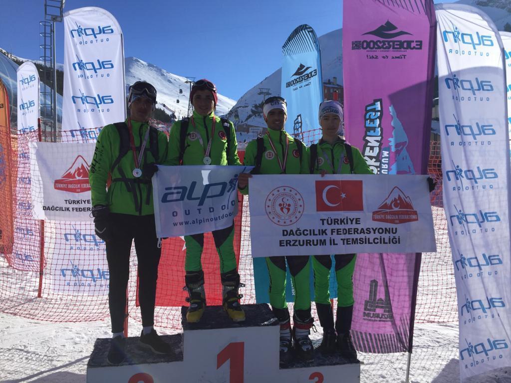 Okul Sporları Dağ Kayağı Erzurum İl Birinciliği Yarışması Tamamlandı
