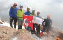 Kay-dak Erciyes Kuzey Buzul Zirve Tırmanışı tamamlandı.