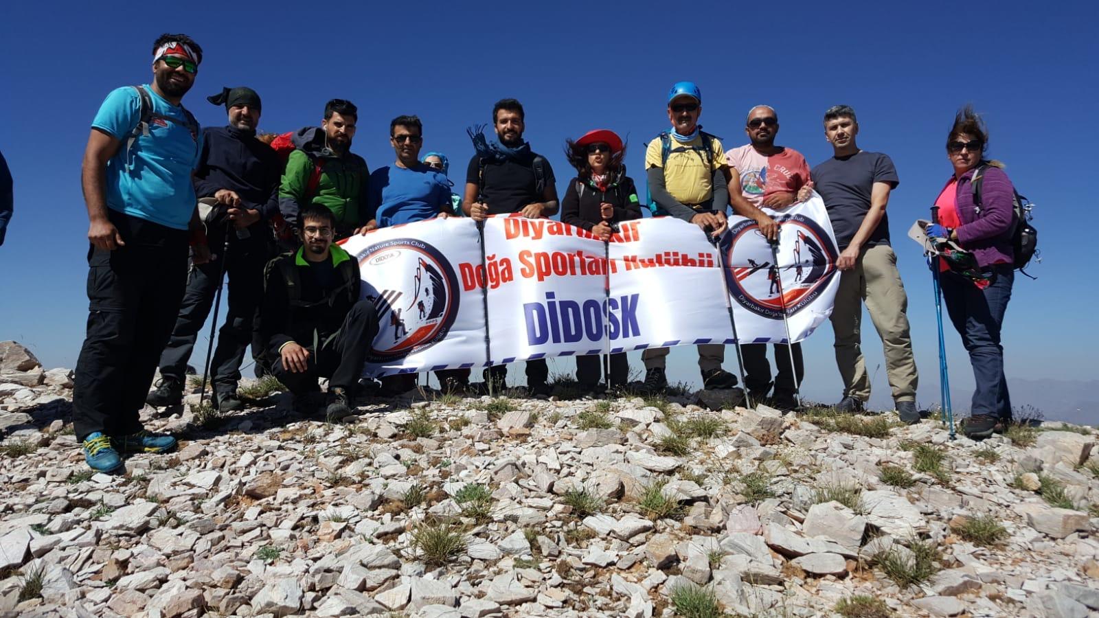 Diyarbakır Doğa Sporları Kulübü Andok Dağı tırmanışını gerçekleştirdi.
