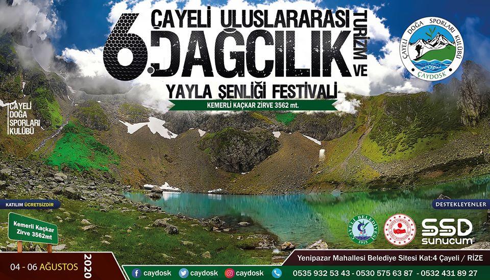 Çayeli 6. Uluslararası Dağcılık Turizm ve Yayla Şenliği Festivali Daveti