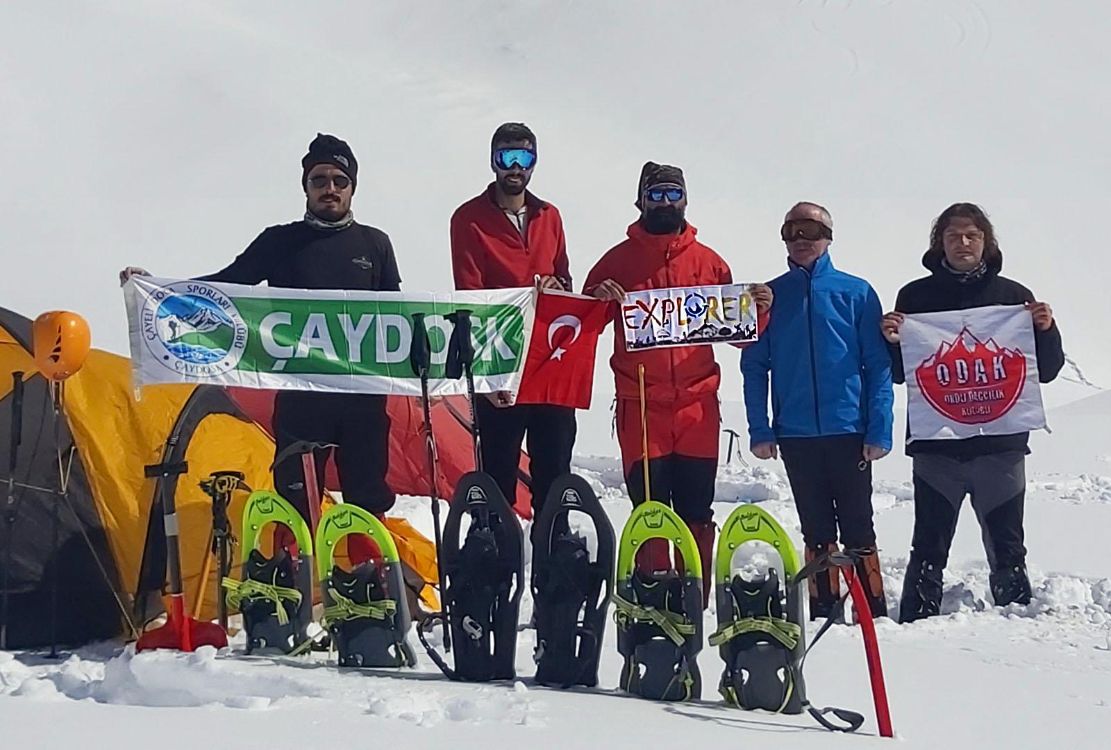 Kemerli Kaçkar Dağı kış tırmanışı gerçekleştirildi.
